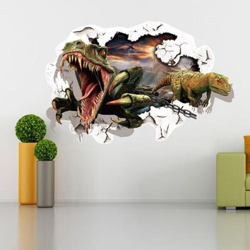 Home decoration accessories  3D Cartoon Wall Stickers Art Decal Mural Home Room Decor