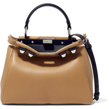 Fendi - Peekaboo mini studded leather shoulder bag