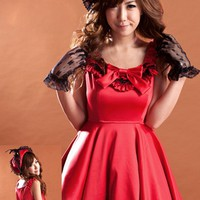 Atomic Red Lolita Fashion