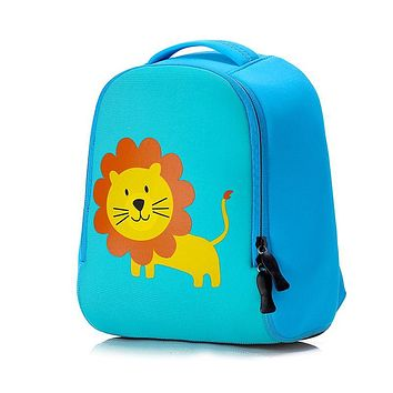 Toddler Kids Cute Animal Printing Backpack Children 3D Neoprene School Bags Kindergarten Baby Girls Boys Cartoon Zoo Pack Rabbit