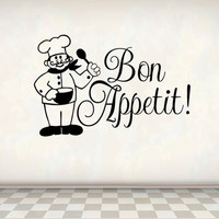 Bon Appetit Decor Wall Decal Decor