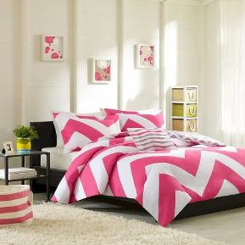 Leo Large Chevron Print Duvet Cover Set