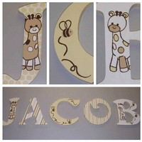 COCALO SNICKERDOODLE INSPIRED HAND PAINTED WOOD WALL LETTERS