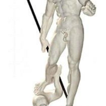 Neptune Sculpture with Trident from Bologna by Giambologna 12.5H - 4525