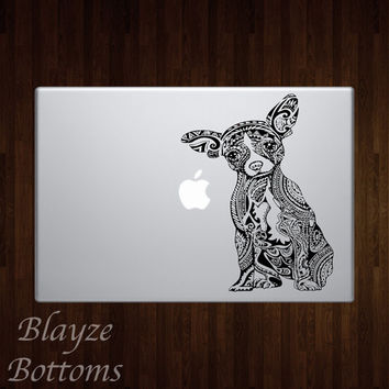 Chihuahua Dog Mandala Car/Computer vinyl decal / Please put color choice in note to seller.