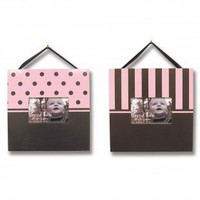 Trend Lab Two Picture Frame Set in Pink and Brown - 100121 - Decor