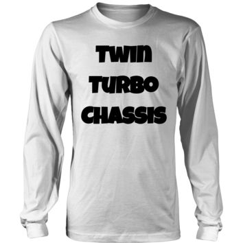 Twin Turbo Chassis - Long Sleeve T-Shirt Black Font
