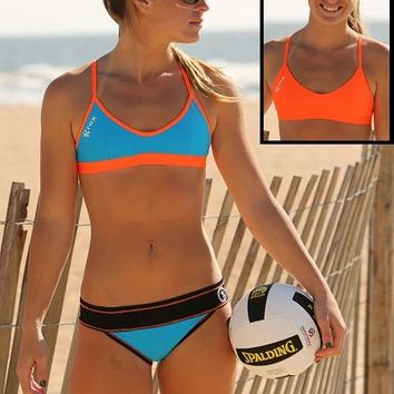 Rox Volleyball Amp II Reversible Beach Bikini Top - Rox Volleyball