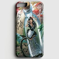 Alice In Wonderland And Tardis Doctor Who iPhone 8 Case