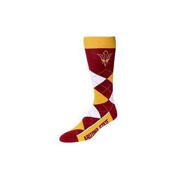 NCAA Arizona State Sun Devils Argyle Unisex Crew Cut Socks - One Size Fits Most