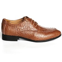 Men Oxfords Business Dress Shoes Crocodile pattern