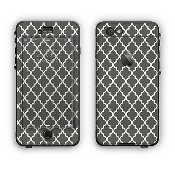 The Gray & White Seamless Morocan Pattern Apple iPhone 6 Plus LifeProof Nuud Case Skin Set