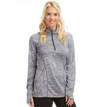 Bally Total Fitness Stella Quarter-Zip Workout Top - Women's