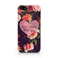 Too Sassy For You Iphone 5 Case, Iphone 5S Case White Plastic Phone Case Cover -Emerishop