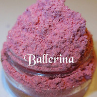 TO BE DISCONTINUED 40% Off Sale Ballerina Pink Shimmer Sparkle Glitter Mineral Eyeshadow Mica Pigment 5 Grams Lumikki Cosmetics