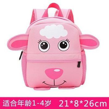 Cartoo animal Cute lamb children baby boys girls canvas schoolbag Children gift Backpacks Cute fashion personality Anti-lost
