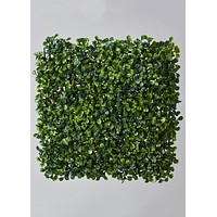 "Artificial Boxwood Square Tile in Green - 11"" Wide"