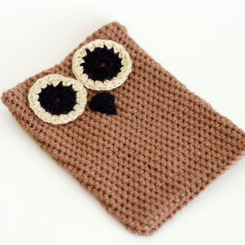 Owl crochet case for iPad mini  / nook / kindle / e-readers