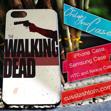 Exclusive The Walking Dead iPhone for 4 5 5c 6 Plus Case, Samsung Galaxy for S3 S4 S5 Note 3 4 Case, iPod for 4 5 Case, HtC One M7 M8