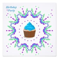"Birthday Party Invitation 5.25"" Square Invitation Card"
