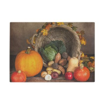 Harvest Blessings Glass Cutting Board