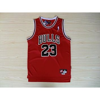 "NBA Chicago Bulls #23 Michael Jordan ""Bulls"" Swingman Jersey"