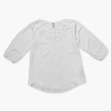 Girls' Levi's (7-16) Peasant Top - White - Kids