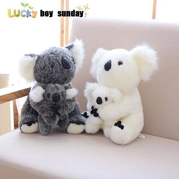 koala plush toy Australia animal koala doll cute animal stuffed soft doll mom hold kids koala toy high quality kids toys