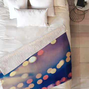Shannon Clark Pretty Lights Fleece Throw Blanket