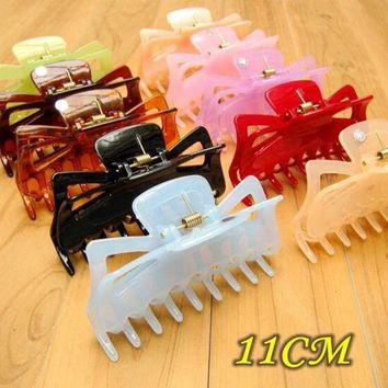 LMFG8W Large Hair Clamps Acetate Hair Crab Clamp Claw Clip Big Barrette Crab Hair Claws for Women Accessories Jaw Clips Hairpins