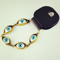 Unusual Exquisite Alloy Angel Eyes Woman Tennis Bracelets - DualShine