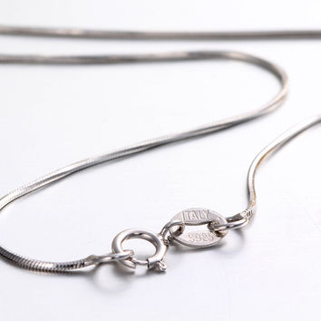 """6Length Real 925 Sterling Silver Necklaces Slim Thin Snake Chains Necklace Women Men Body Chain Kids Girls Custom Jewelry 14-32"""""""