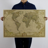 World Treasure Map Posters