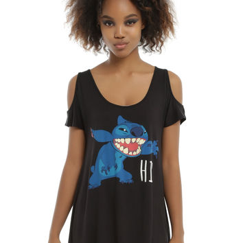 Disney Lilo & Stitch Girls Cold Shoulder Top