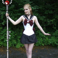 Sailor Pluto Silk Corset Halloween SALE by corsetwonderland