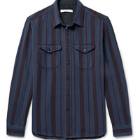 Outerknown - Happy Slim-Fit Striped Organic Cotton-Twill Shirt