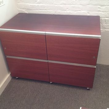 Italian INFOR Filing Cabinets, Set of 3 with Keys