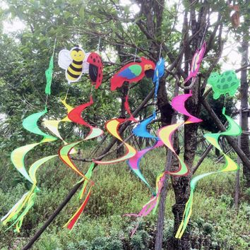 1Pc Animal Spiral Windmill Colorful Wind Spinner Lawn Garden Yard Outdoor Decor Kids Toy