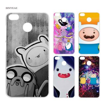 BINYEAE Adventure Time with Finn and Jake Anime Clear Hard Case Cover Shell for Xiaomi MI A2 A1 5X 6X Redmi Note 4X 4 4A 5 Plus