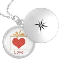 The Gift of Love Silver Plated Round Locket
