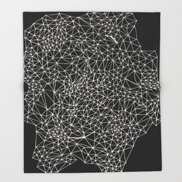 Geo Webbed Throw Blanket by DuckyB