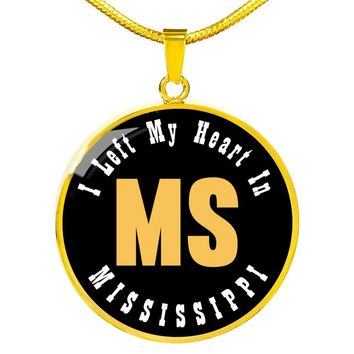 Heart In Mississippi - 18k Gold Finished Luxury Necklace