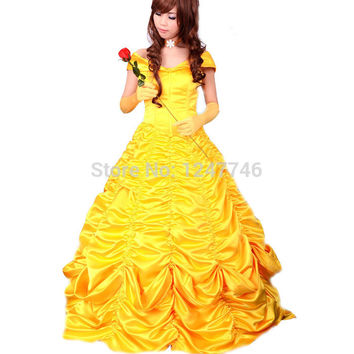 belle costume adult princess belle costume beauty and the beast costume cosplay halloween costumes for women dress custom