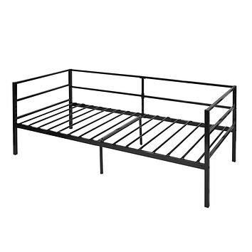 Twin size Sturdy Steel Metal Daybed Frame in Black