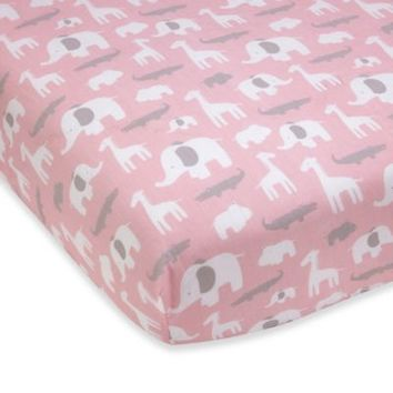Wendy Bellissimo™ Mix & Match Safari Fitted Crib Sheet in Pink