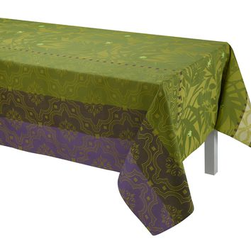 Bahia Green Table Linen by Le Jacquard Français