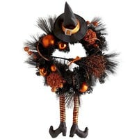 Witch Hat & Broom Wreath
