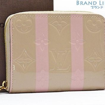 Auth LOUISVUITTON Monogramu Vernis Zippy Coin Purse M58066