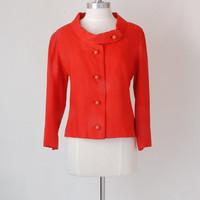 Orange Late 60's Sleek Jacket