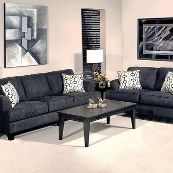 Serta 5600 Soprano Black Sofa and Loveseat